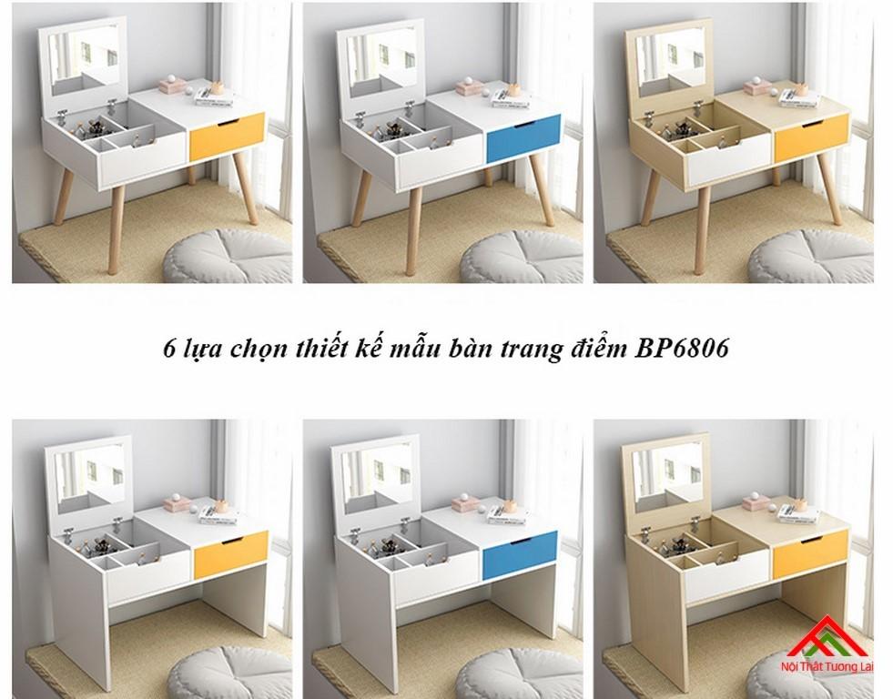 Bàn trang điểm gỗ thiết kế tinh tế BP6806 3
