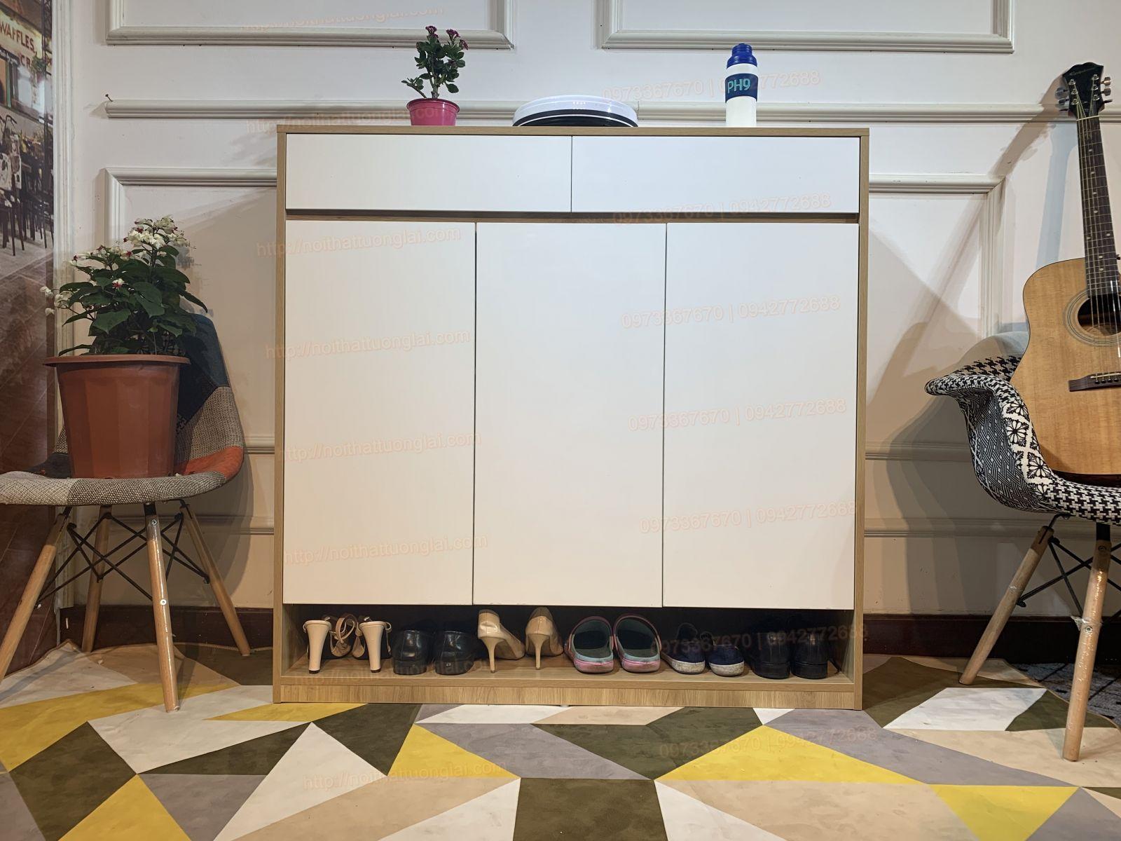 Tủ giày, những mẫu tủ đựng giày dép bằng gỗ đẹp