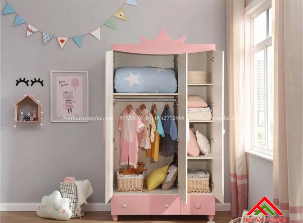 Tủ quấn áo cho bé gái GA6806 1