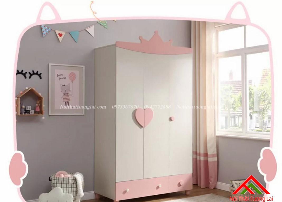 Tủ quấn áo cho bé gái GA6806 7