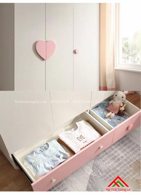 Tủ quấn áo cho bé gái GA6806 2
