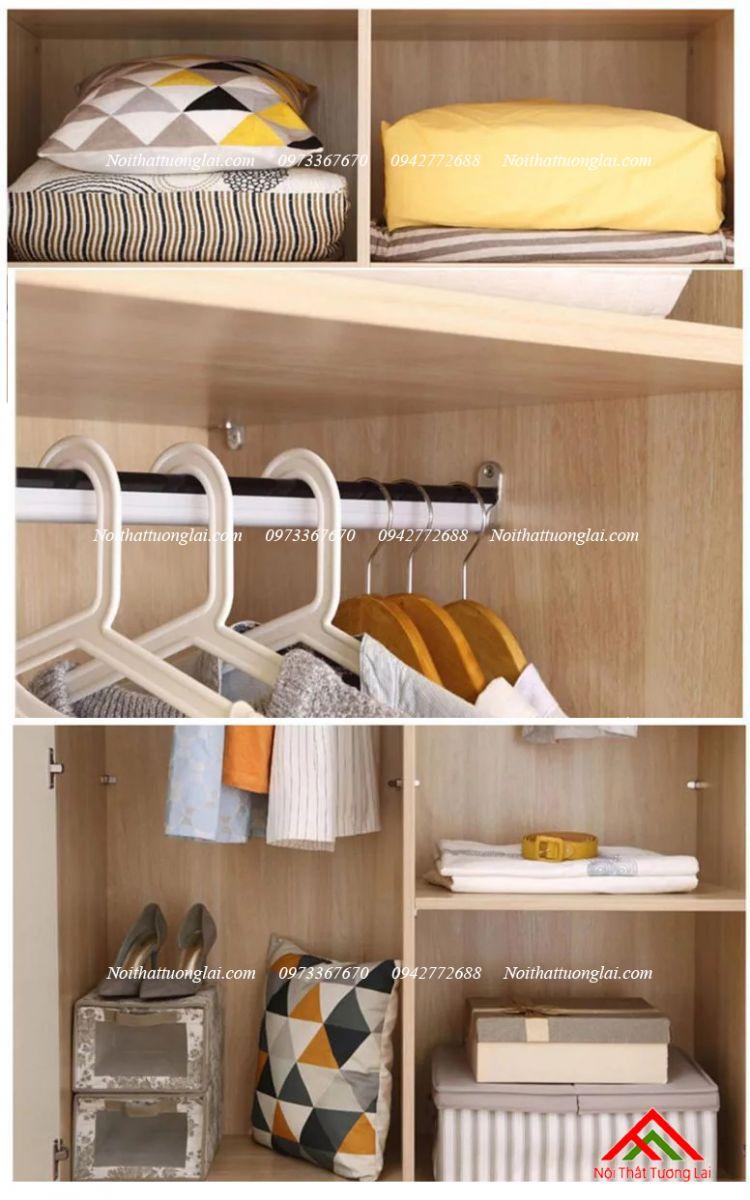 Tủ quần áo trẻ em QA6807 đẹp hiện đại