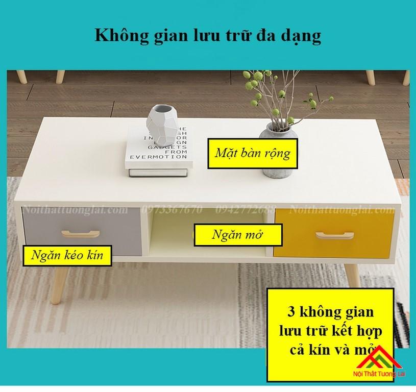 Bàn trà phòng khách dáng chân cao BN6801 5