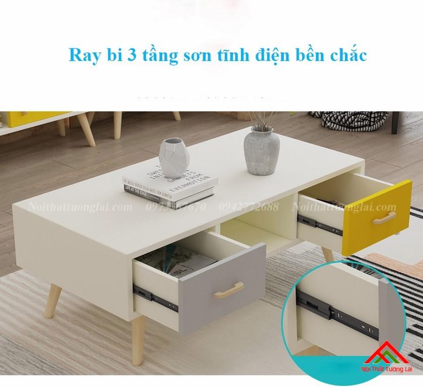 Bàn trà phòng khách dáng chân cao BN6801 6