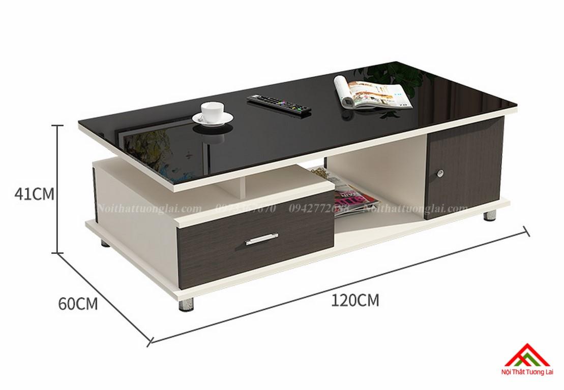 Bàn trà sofa mặt kính cường lực cao cấp BN6807 2