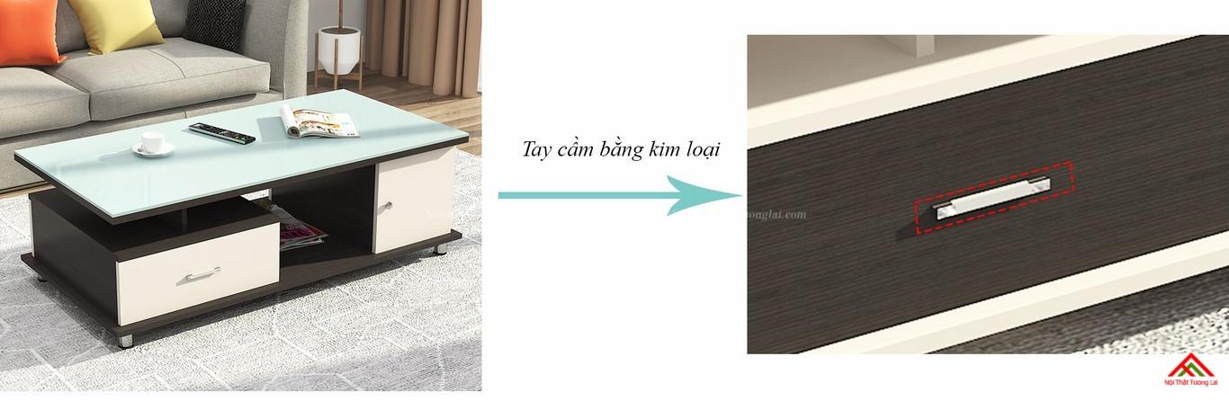 Bàn trà sofa mặt kính cường lực cao cấp BN6807 6