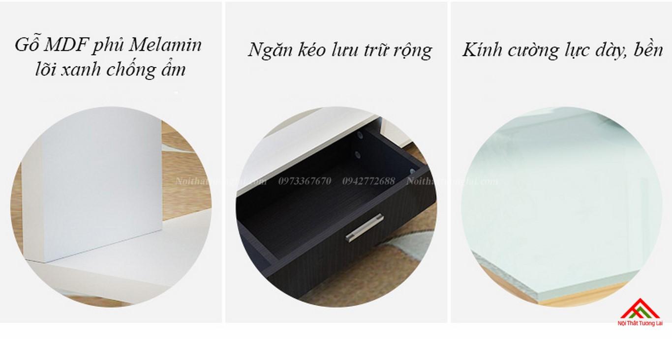 Bàn trà sofa mặt kính cường lực cao cấp BN6807 5