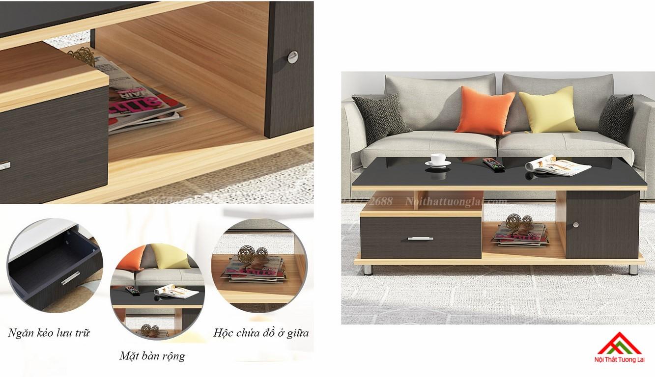 Bàn trà sofa mặt kính cường lực cao cấp BN6807 4