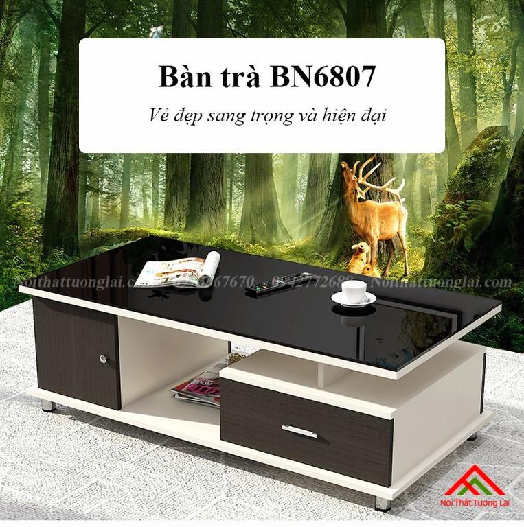 Bàn trà sofa mặt kính cường lực cao cấp BN6807 1