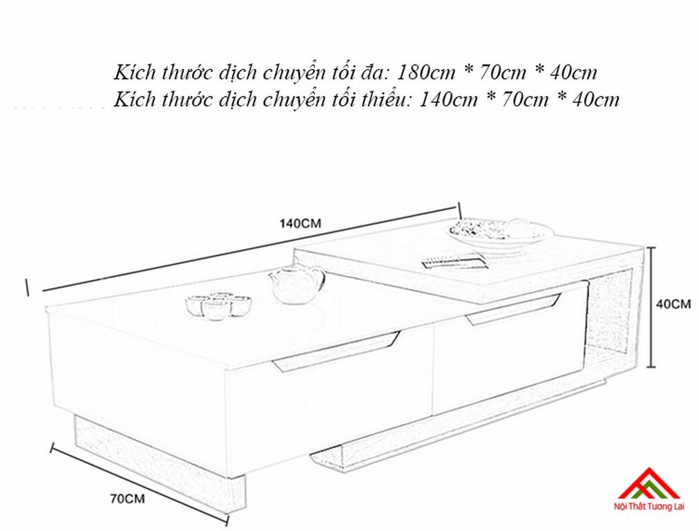 Bàn trà thiết kế thông minh BN6805 2