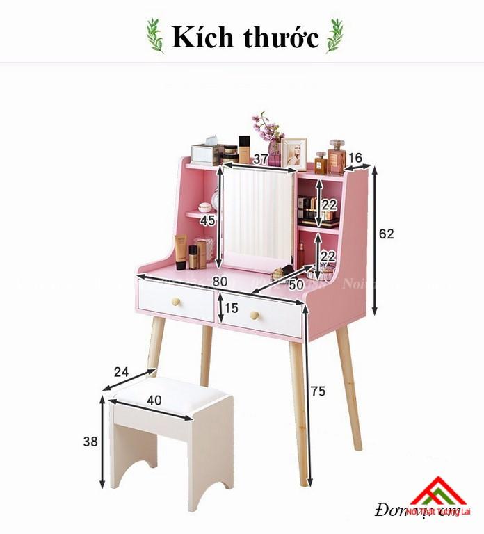 Bàn trang điểm gỗ BP6807 thiết kế thông minh 2