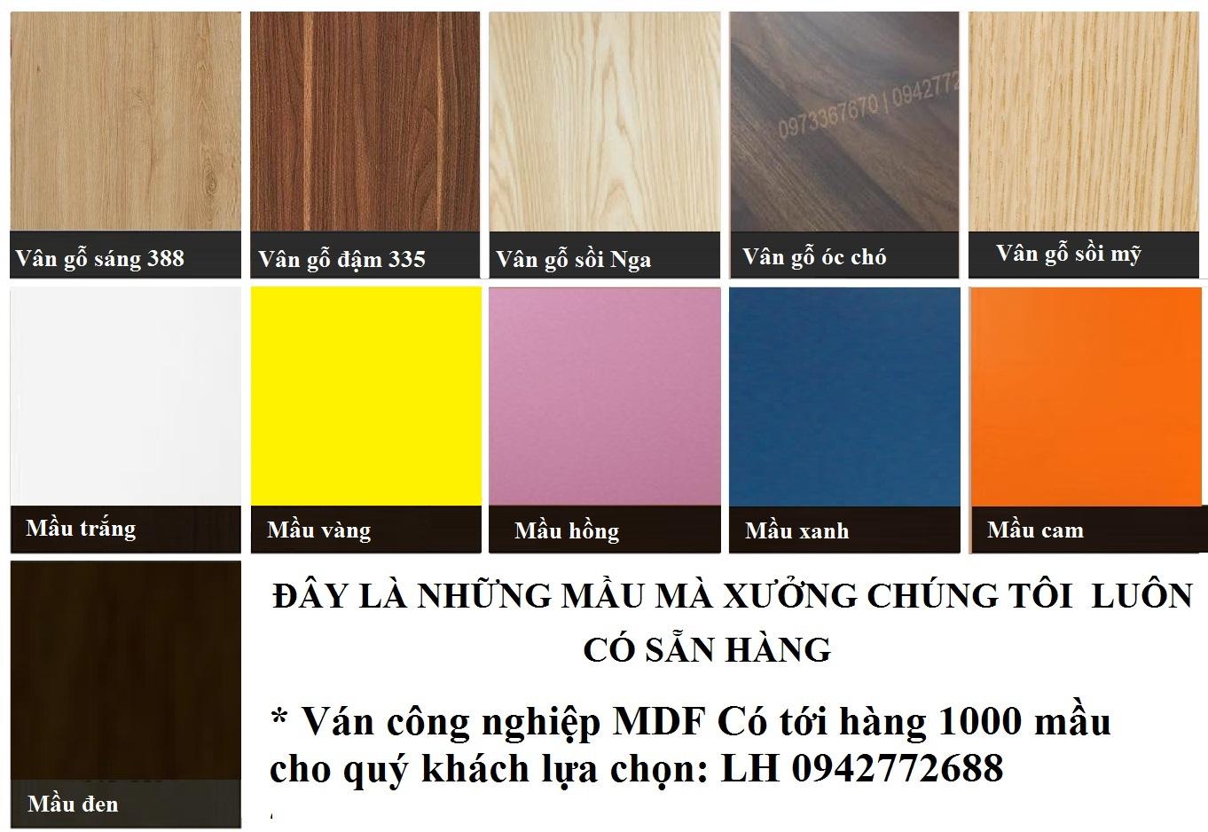 Bảng màu gỗ công nghiệp