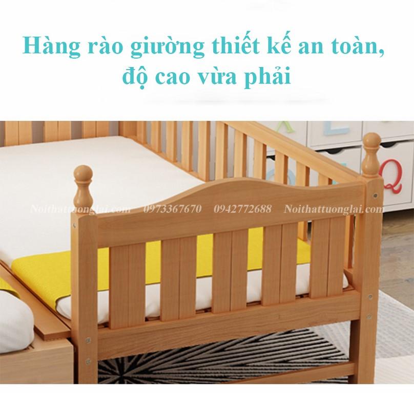 Giường cũi cho bé GB6812 tiện lợi 8