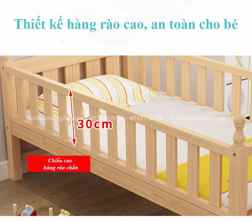 Giường cũi cho bé GB6812 tiện lợi 7