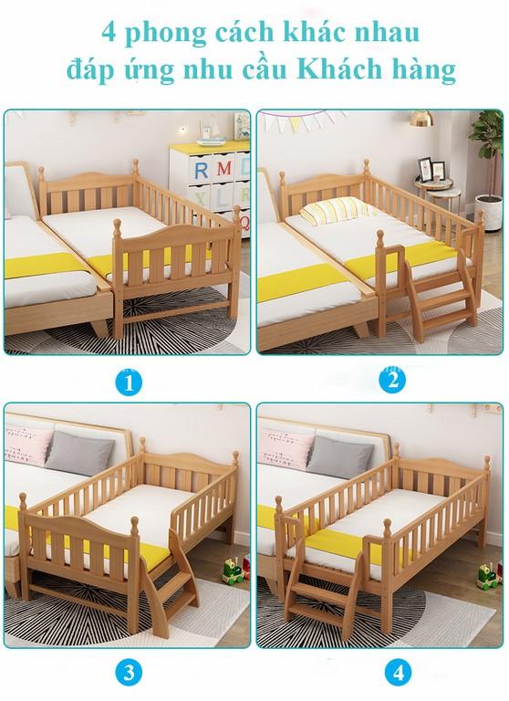 Giường cũi cho bé GB6812 tiện lợi 1
