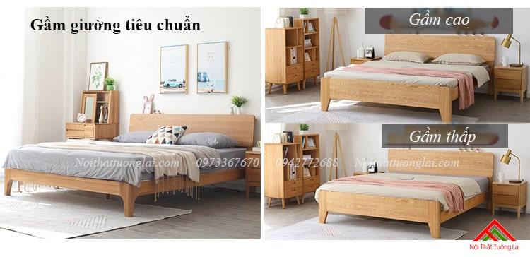 Giường gỗ sồi GN6812 thiết kế thông minh, hiện đại 9