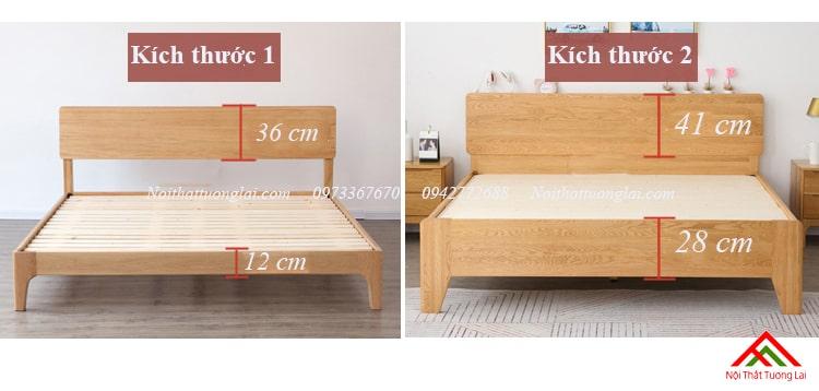 Giường gỗ sồi GN6812 thiết kế thông minh, hiện đại 7