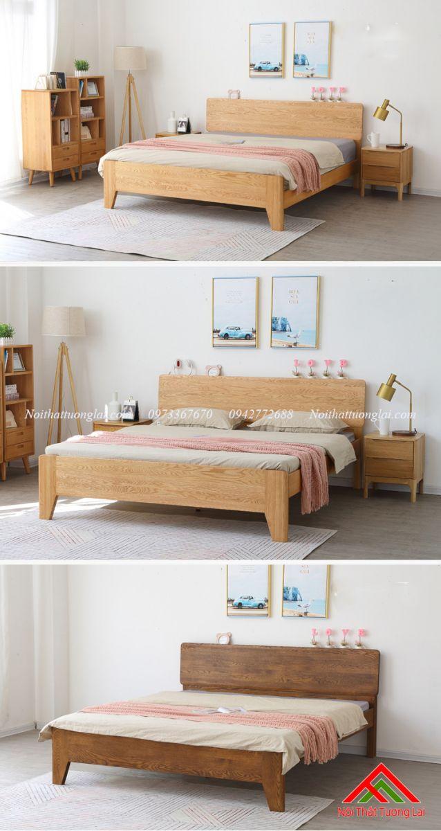 Giường gỗ sồi GN6812 thiết kế thông minh, hiện đại 1
