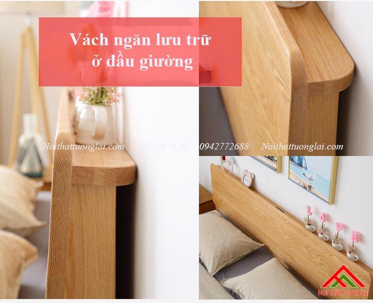 Giường gỗ sồi GN6812 thiết kế thông minh, hiện đại 11
