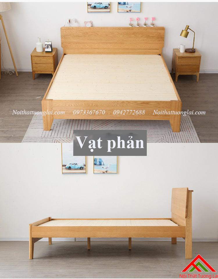 Giường gỗ sồi GN6812 thiết kế thông minh, hiện đại 4