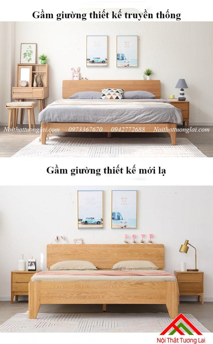 Giường gỗ sồi GN6812 thiết kế thông minh, hiện đại 10