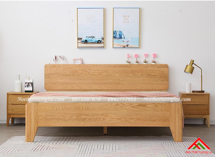 Giường gỗ sồi GN6812 thiết kế thông minh, hiện đại 3