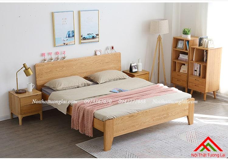 Giường gỗ sồi GN6812 thiết kế thông minh, hiện đại 13