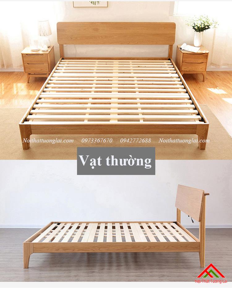Giường gỗ sồi GN6812 thiết kế thông minh, hiện đại 5