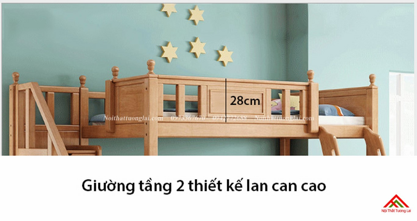 Giường hai tầng gỗ trẻ em GT6830 3