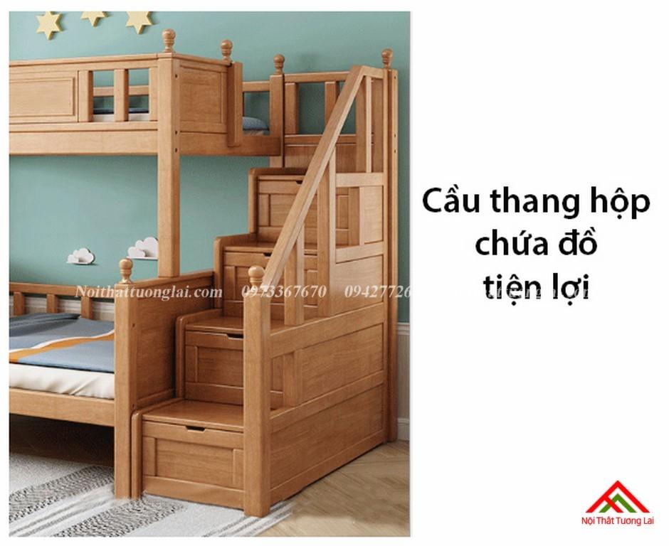 Giường hai tầng gỗ trẻ em GT6830 4