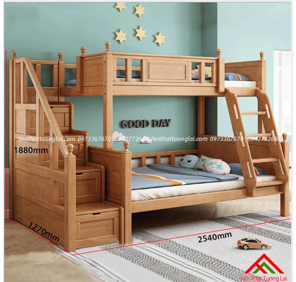 Giường hai tầng gỗ trẻ em GT6830 2