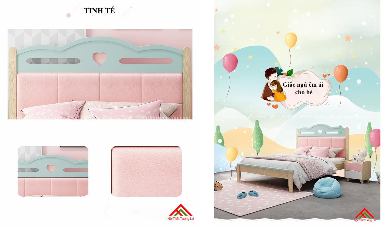 Giường ngủ cho bé gái GB6810 đẹp miễn chê 10