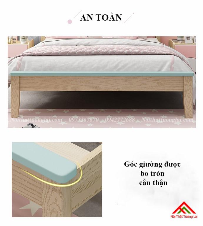 Giường ngủ cho bé gái GB6810 đẹp miễn chê 5