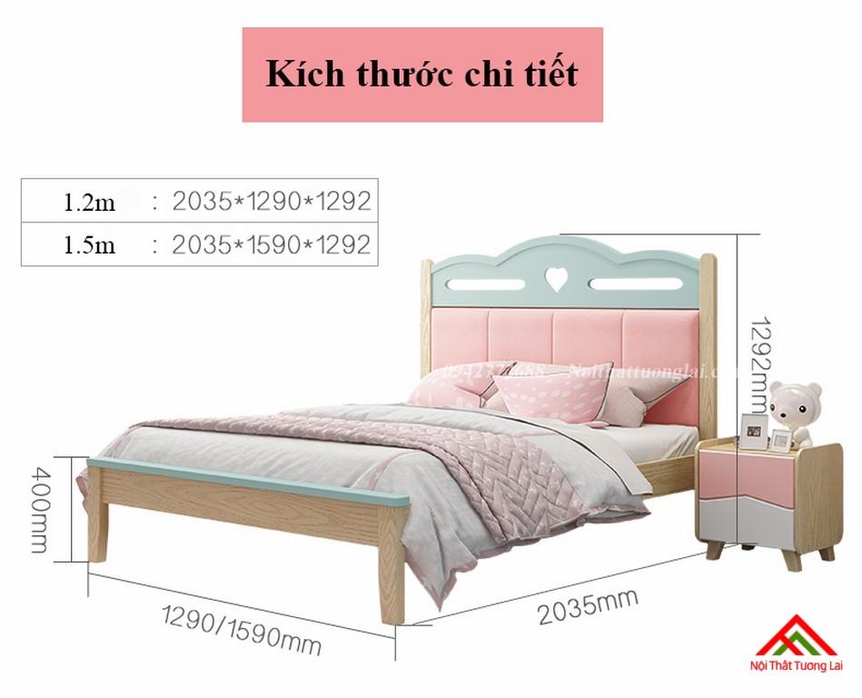 Giường ngủ cho bé gái GB6810 đẹp miễn chê 9