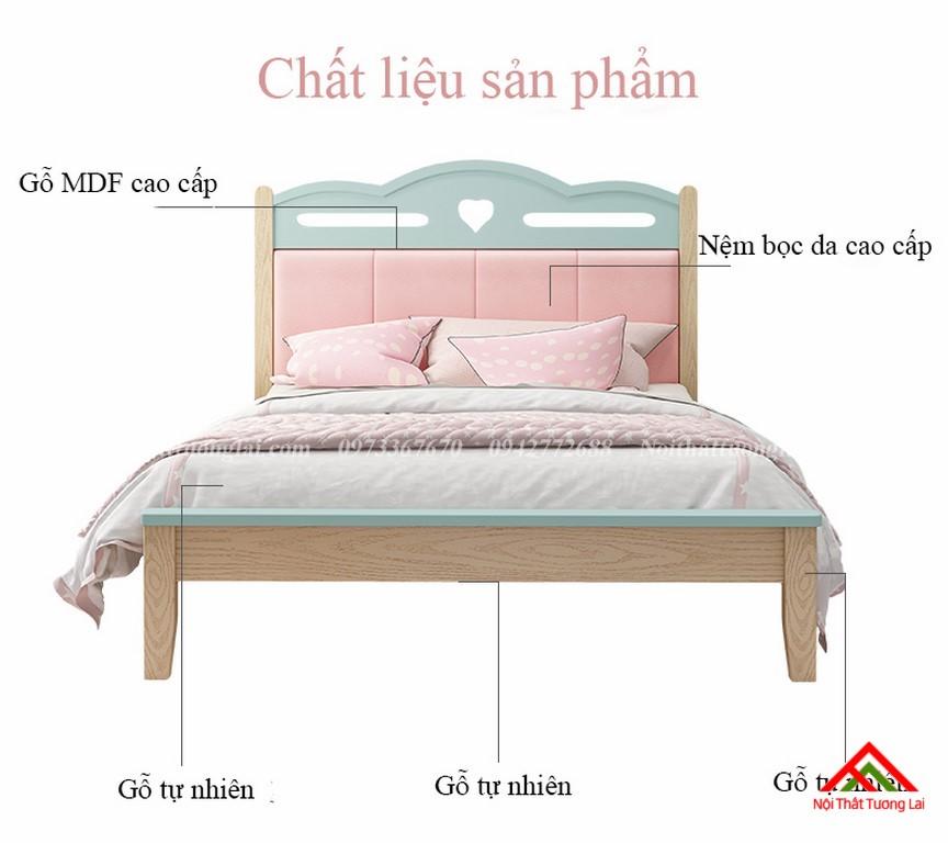 Giường ngủ cho bé gái GB6810 đẹp miễn chê 2