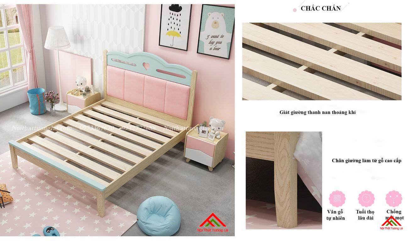 Giường ngủ cho bé gái GB6810 đẹp miễn chê 4