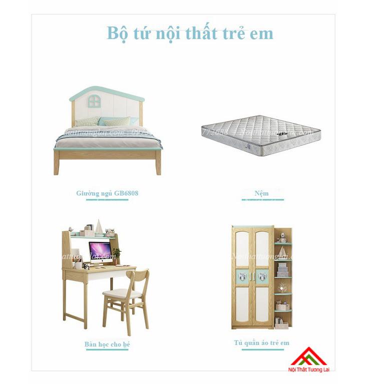 Giường ngủ cho bé trai GB6808 độc đáo