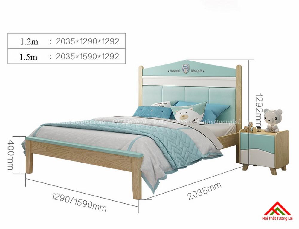 Giường ngủ cho bé trai GB6809 thiết kế an toàn 10