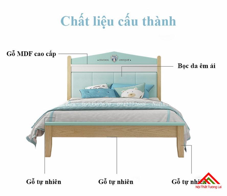 Giường ngủ cho bé trai GB6809 thiết kế an toàn 5