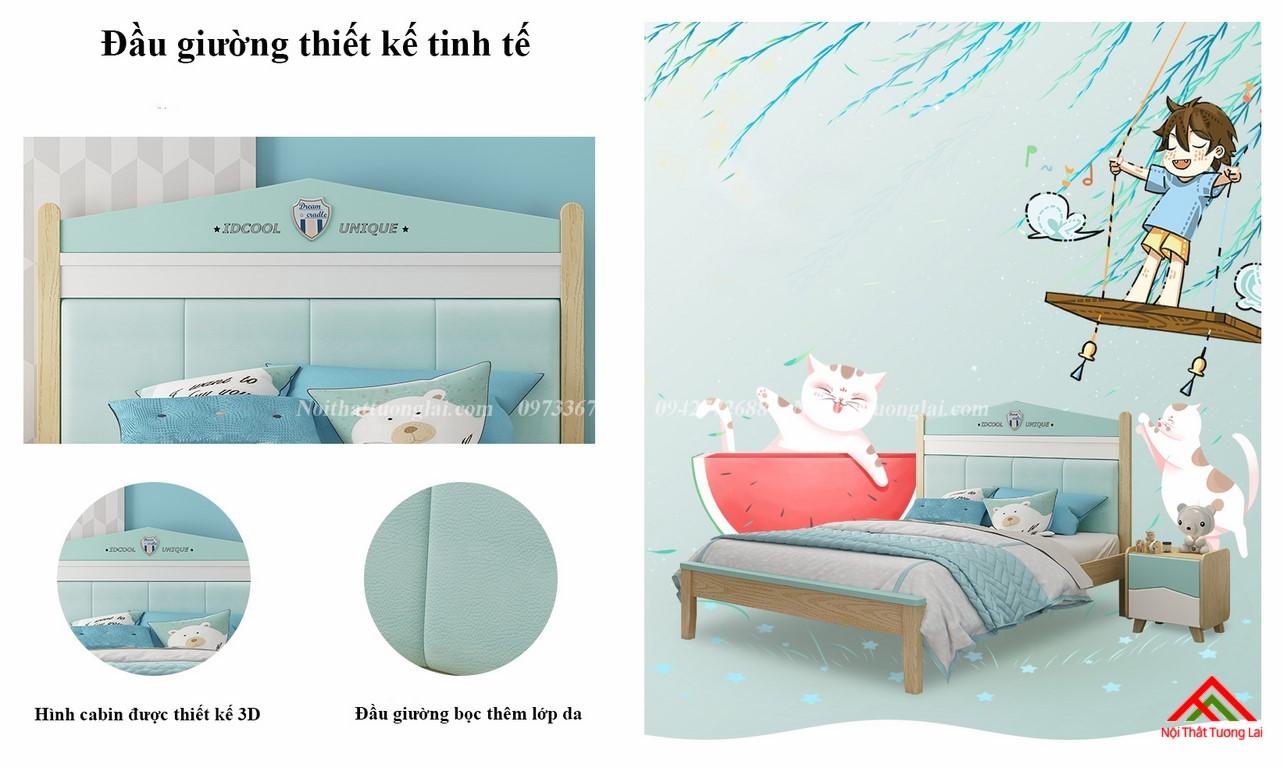 Giường ngủ cho bé trai GB6809 thiết kế an toàn 9