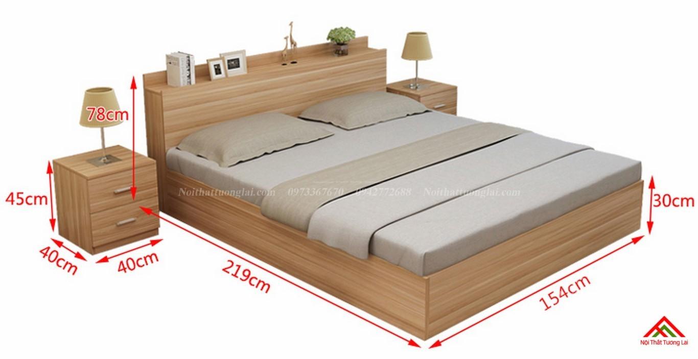 Giường ngủ đẹp hiện đại có ngăn chứa đồ GN8802 2