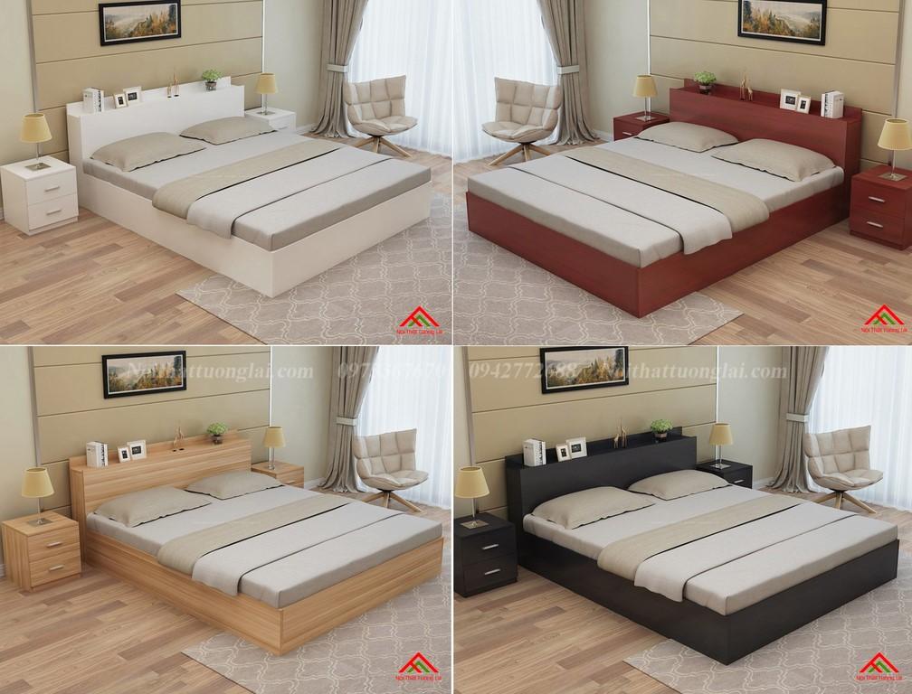 Giường ngủ đẹp hiện đại có ngăn chứa đồ GN8802 8