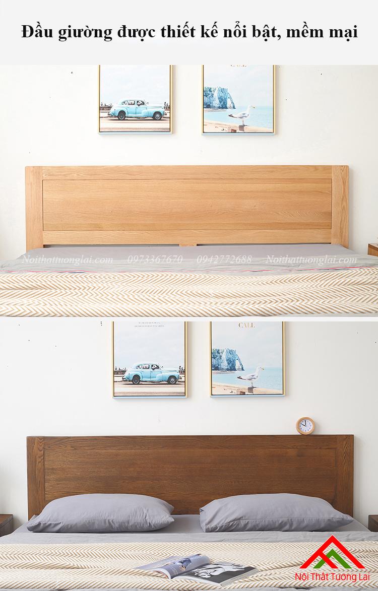 Giường ngủ gỗ sồi GN6811 6