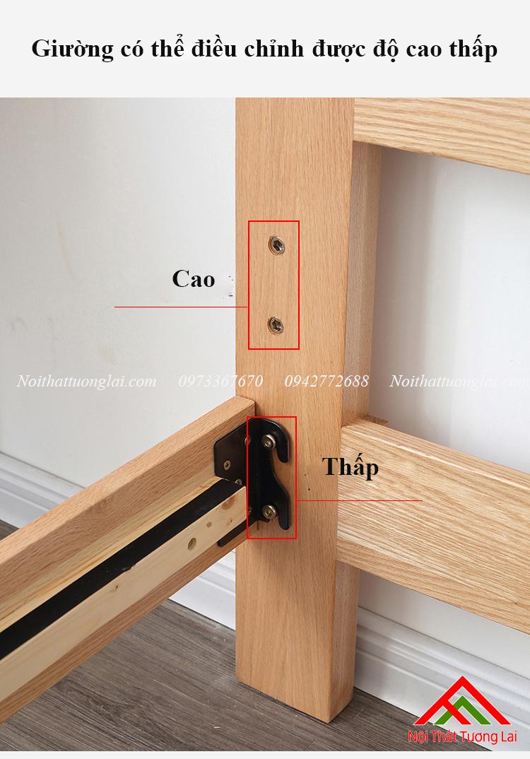 Giường ngủ gỗ sồi GN6811 9