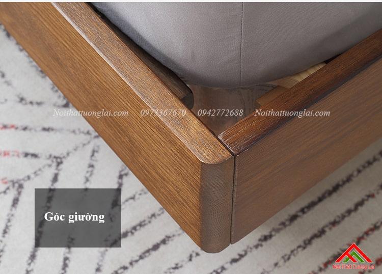 Giường ngủ gỗ sồi GN6813 chân cao 12