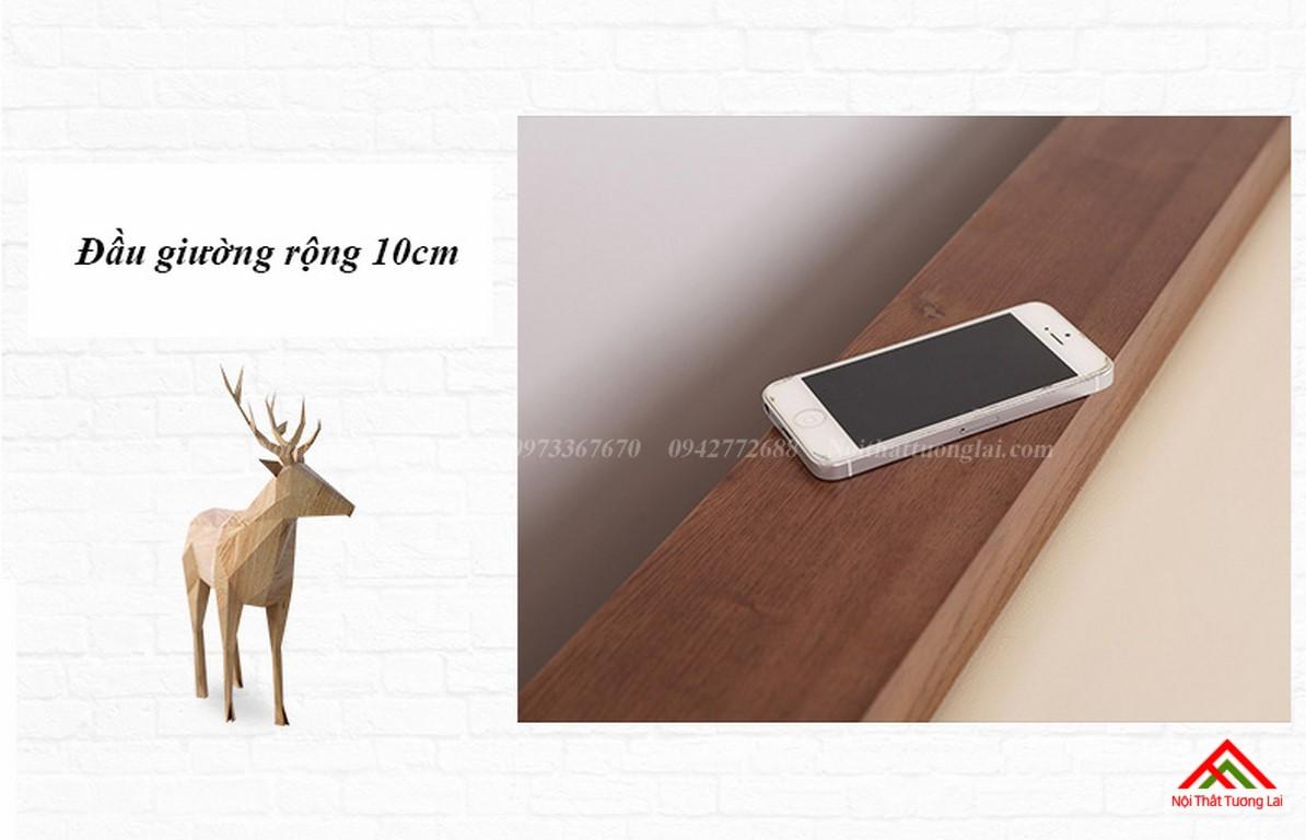 Giường ngủ gỗ tự nhiên có thêm giường phụ GN6823 4
