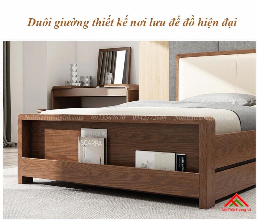 Giường ngủ gỗ tự nhiên có thêm giường phụ GN6823 11