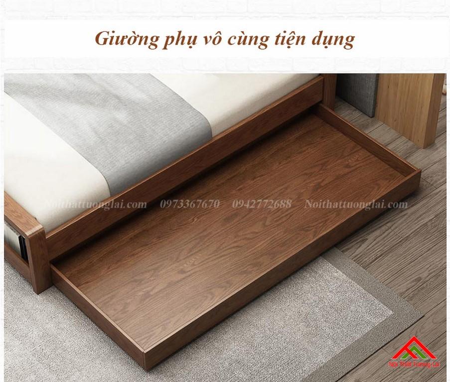 Giường ngủ gỗ tự nhiên có thêm giường phụ GN6823 7