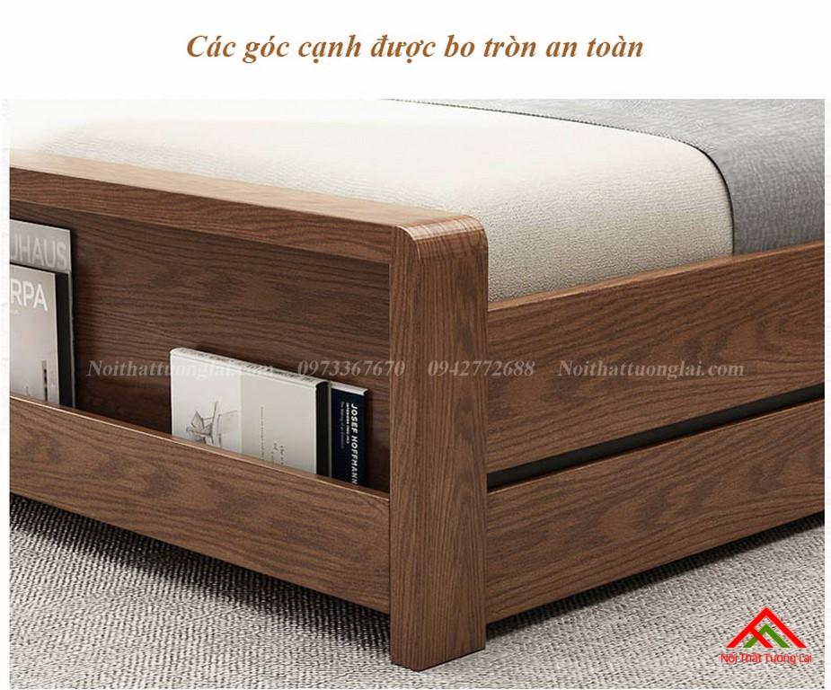 Giường ngủ gỗ tự nhiên có thêm giường phụ GN6823 10