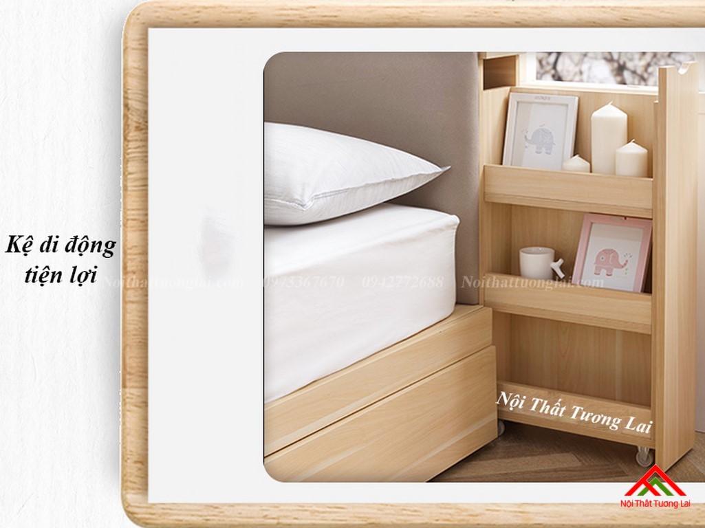 Giường ngủ hộp GN6822 với nhiều ngăn lưu trữ đồ đa dạng 7